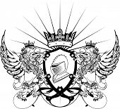 gryphon tattoo tshirt coat of arms9
