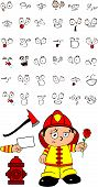 firefighter kid cartoon set4