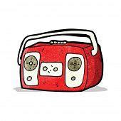 radio cassette player cartoon