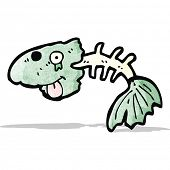 cartoon fish bones
