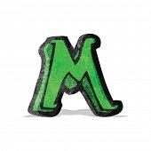 cartoon letter m