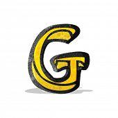 cartoon letter g