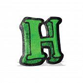 cartoon letter h