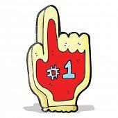cartoon big foam sports hand