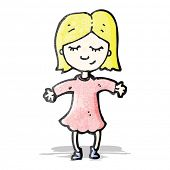cartoon happy blond girl