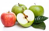 Food. Delicious apples on a white background