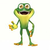 Frog welcome pose