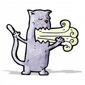 foto of belching  - cartoon belching cat - JPG