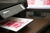 Printing Fake Rmb Paper Currency Illegally