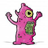 cartoon crazy monster