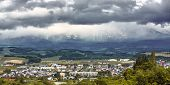Storming On Mountain View From Biei Town