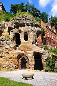 Castle mound caves, Chester.