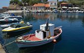 Molyvos  Harbor  with Fishing Boats
