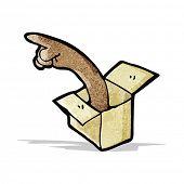 arm in box cartoon