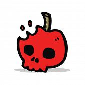 cartoon poison apple