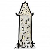 cartoon tall old house