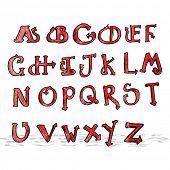 cartoon devil tail alphabet