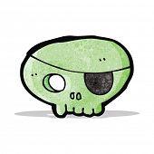 cartoon spooky pirate skull