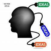 Businessman and idea charging