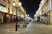 image of a night Moscow