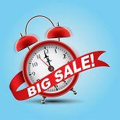 Red alarm clock concept - Big Sale