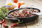 Meat Stew With Red Beans And Chili