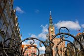 Central Square And Townhall In Gdansk