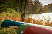 Canoes At Mt Gretna Lake