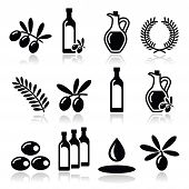 stock photo of olive shaped  - Food vector icons set  - JPG