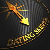 Dating Service - Golden Compass Needle.