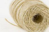 string reel on white background