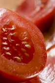 beautiful fresh tomato, macro