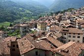 Panoramic view of Bagolino in Northern Italy