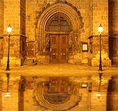 Gateway church at night