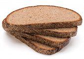 image of fresh slice bread  - Slice of fresh rye bread isolated on white background cutout - JPG