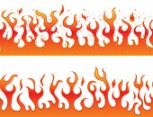 stock photo of flames  - Flames on a white background  - JPG