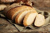stock photo of fresh slice bread  - Sliced fresh bread - JPG