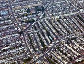 stock photo of urbanisation  - Aerial view of London streets in daytime - JPG