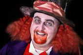 picture of mad hatter  - Man dressed in halloween costume with orange hair - JPG