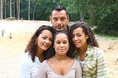 multi cultural family close