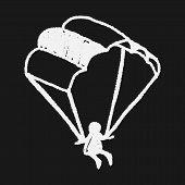 image of parachute  - Doodle Parachute - JPG