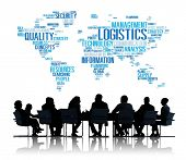 pic of logistics  - Logistics Management Freight Service Production Concept - JPG