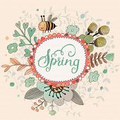 picture of save water  - Lovely spring concept card - JPG