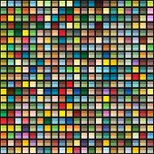 stock photo of cell block  - Abstract geometric seamless background of color blocks - JPG