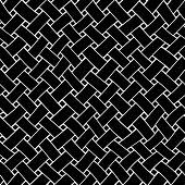 Black Waving Wickerwork