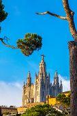 image of sacred heart jesus  - Church of the Sacred heart of Jesus in Barcelona in Spain - JPG