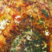 foto of batik  - fragment of painting on silk batik close up - JPG