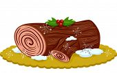 pic of yule  - Illustration of an Appetizing Yule Log Topped With Berries - JPG