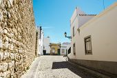 pic of faro  - The street in historic center of Faro Portugal - JPG