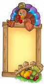 Wooden Frame With Lurking Turkey